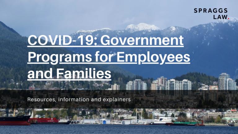 COVID 19 government programs